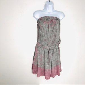 Gypsy 05 Strapless Pink and Grey Tie Dye Dress S